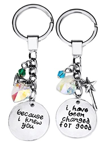 Broadway Musical Wicked Best Friends Metal Enamel Keychain w/Charms - Enamel Key Ring