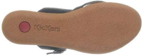 Black Kickers Leather Clogs 8 50 349971 Schwarz Black YqYS6rx