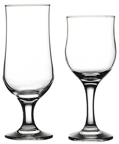 Circleware 704572445725 Regency Huge Glassware, Tulipe Wine Glasses and Beer Glasses, Drinking Glasses, 6-10.5 oz/6-12.75 oz (Set of 12)