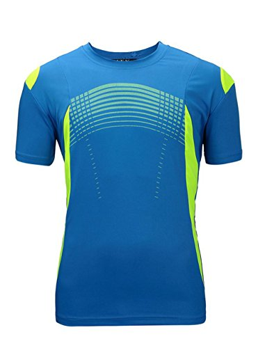ZITY Sportswear Men's 100% Polyester Moisture-Wicking Short-Sleeve T-Shirt Blue XX-Large (Professional Clown Shoes)
