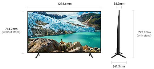 Samsung 138 cm (55 Inches) 4K Ultra HD LED Smart TV UA55RU7100KXXL (Black) (2019 model)