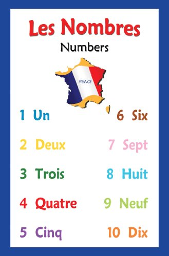 French Language School Poster - Chart with Numbers in French for Classroom Decor