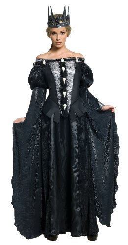 Snow White and The Huntsman Adult Queen Ravenna Skull Dress Costume, Black, (White Queen Halloween Costume)