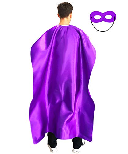 Adult Superhero Capes and Masks for Men and