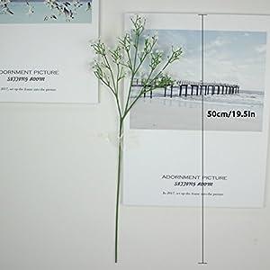 JinHot Fashion 10 Pcs White Gypsophila Artificial Fake Beautiful Flower Home Party Wedding Decor Flowers (White) 2