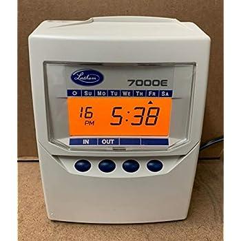 Amazon. Com: lathem calculating atomic time clock, for 100.