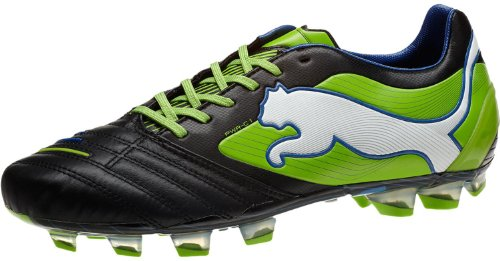 PUMA Men's Powercat 1 FG Soccer Cleat,Black/Jasmine Green/Mo