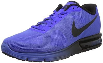 NIKE Men's Air Max Sequent Running Shoe Racer Blue/Black 42 EU