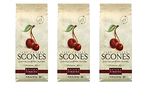 Sticky Fingers Tart Cherry Scone Mix, 15-Ounce (Pack of 3) - Cherry Scone