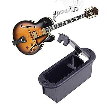 Caja de batería de 9 V para guitarra, bajo, recambios: Amazon.es ...