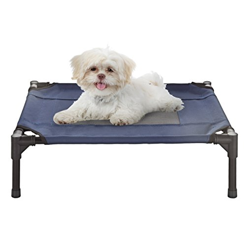 "PETMAKER Elevated Pet Bed-Portable Raised Cot-Style Bed W/Non-Slip Feet, 24.5""x 18.5""x 7"" for Dogs, Cats, and Small Pets-Indoor/Outdoor Use (Blue) by PETMAKER (Image #6)"