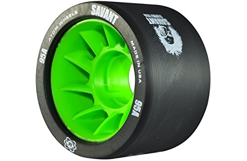Atom Savant Skate Wheels Black 95A Set of 8