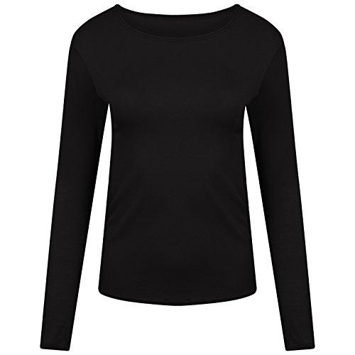 Get The Trend - Camiseta de manga larga - Básico - para mujer negro