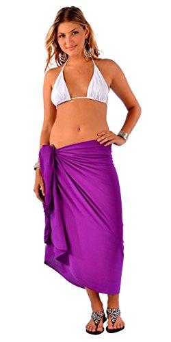 1 da parei Uni viola costume bagno mondo le 2 donne per Sarong del zqwHE64z
