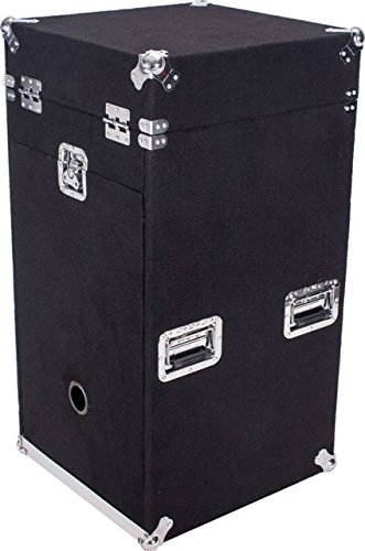 DEEJAY LED TBHMC1016WE Fly Drive Case Carpet Case For 10u Space Slant Mixer Top w/16u Space Bottom For Amplifiers with Caster
