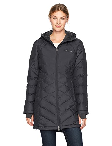 Columbia Women's Standard Heavenly Long HDD Jacket, Black, Large (Womens Coats Columbia)