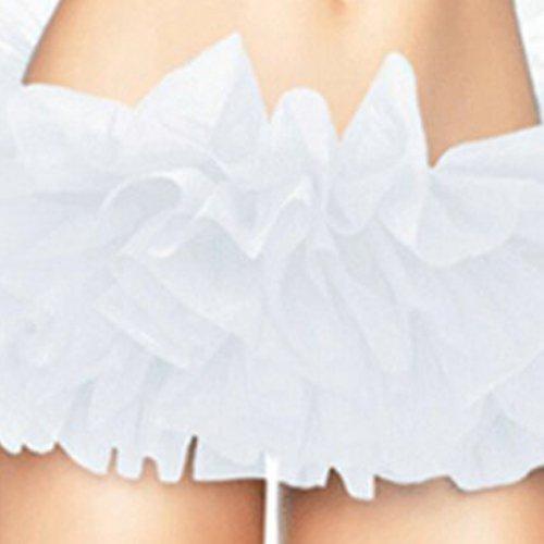 Jupon SODIAL de organza adulte pour Mini couche tutu de de R jaune la Blanc dentelle jupe couleur Yw5rqYg