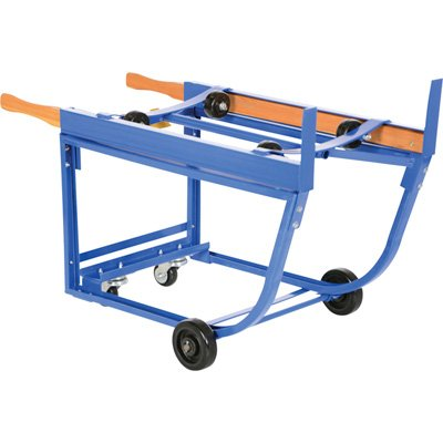 Vestil RDC-1000-5PO Deluxe Rotating Drum Cart with Polyolefin Wheel, Steel, 1000 lbs Capacity (Oil Tool Box Drum)