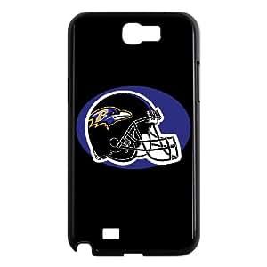 Baltimore Ravens Team Logo Samsung Galaxy N2 7100 Cell Phone Case Black DIY gift zhm004_8670281