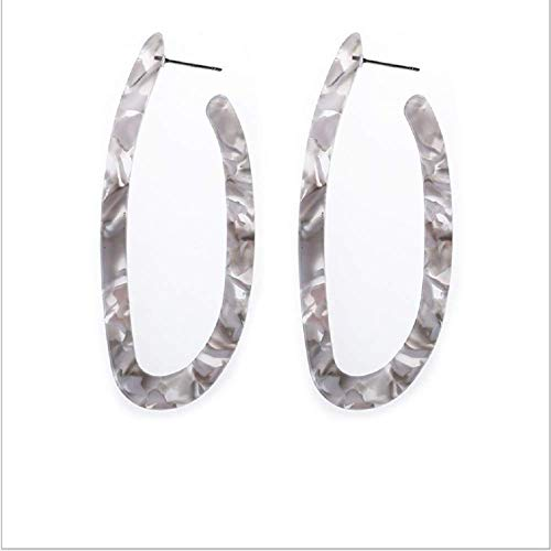 (WYAQ Statement Mottled Acrylic Drop Dangle Earring Geometri Resin Hoop Lightweight Stud Boho Tortoise Shell Earrings for Women and Girls)
