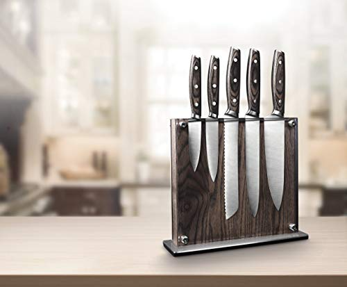 Steel Cutlery With Wooden Holder - Art & Cook Elite 6PC Magnetic Knife Block Set by Ar+cook (Image #4)
