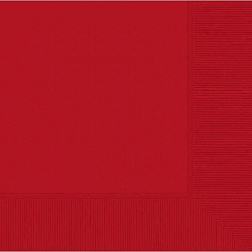 amscan Apple Red 2-Ply Luncheon Napkins 50 Ct. | Party Tableware -