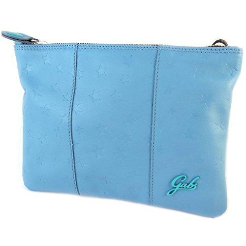 La bolsa de cuero bolsa 'Gabs'estrellas azules brillantes ()- 24x17x1 cm.