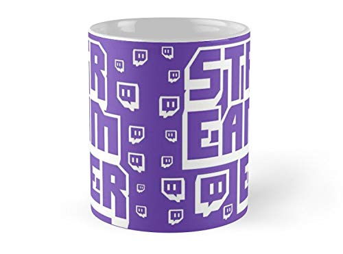 Streamer Twitch 11oz Mug - Made from Ceramic - Best gift for family -