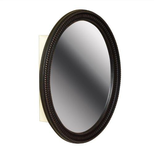 Zenith BMV2532BB, Oval Mirror Medicine Cabinet, Oil Rubbed Bronze -