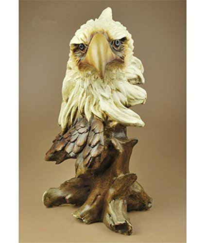 SJMM Imitation Wood Carving Eagle Head Handicraft Ornaments Birthday Gift Wedding Gift,A1