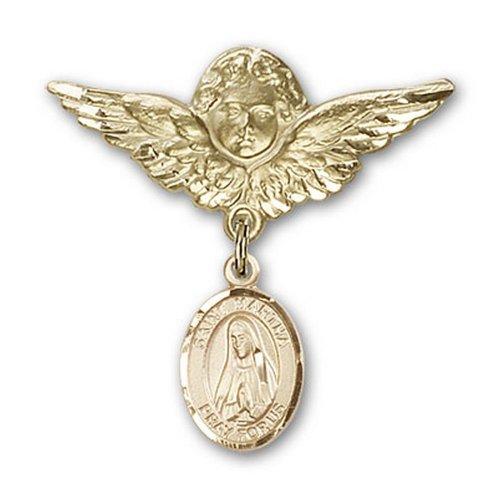 Icecarats Or Bijoux De Créateurs Rempli R. Martha Charme Ange Broche De Badge 1 1/8 X 1 1/8