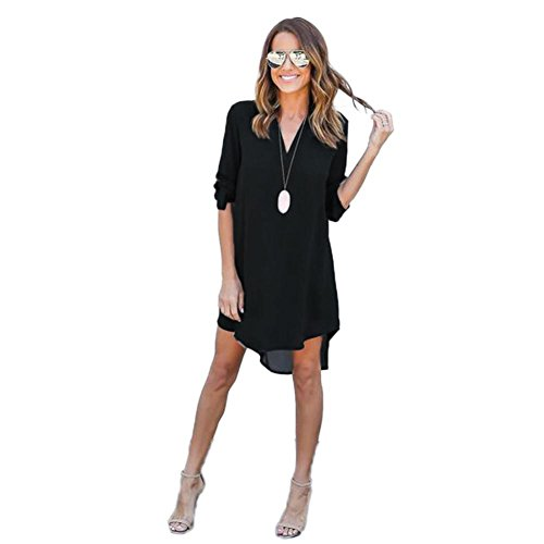 creazyr-women-blouse-chiffon-long-sleeve-t-shirt-casual-dress-tops-m-black