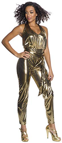 Disco Themed Costumes (Charades Disco Fever Queen Adult Costume Jumpsuit, As Shown,)