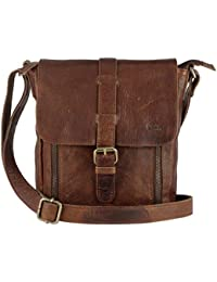 Genuine Leather Crossbody Purse and Handbags - Crossover Bag Over the Shoulder