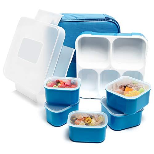 Caja de almuerzo Fun Life Bento, 5 compartimentos, aislante, a prueba de fugas, ecológica, reutilizable, para hombres,...