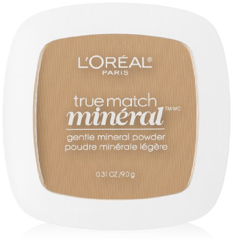 L'Oreal Paris True Match Mineral Pressed Powder, Natural Buff, 0.31 Ounce