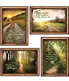 Peaceful Pathways - KJV Scripture Greeting Cards - Boxed - Encouragement 4 designs, 12 cards