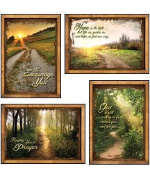 Peaceful Pathways - KJV Scripture Greeting Cards - Boxed - Encouragement 4 designs, 12 cards