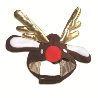 Red Nosed Reindeer Hat for Dogs, XL