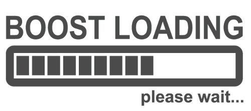 Boost Loading Please Wait Decal, sticker, die cut, drifting, racing, jdm