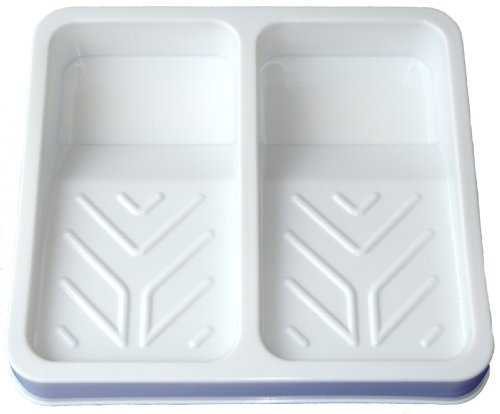 70mm Artist Double Paint White Plastic Roller Tray