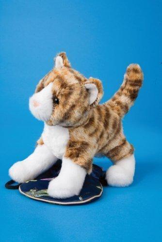 Plush SADIE Tiger Stripe Cat Soft Cuddly Toy by Douglas Cuddle - Douglas Mall The