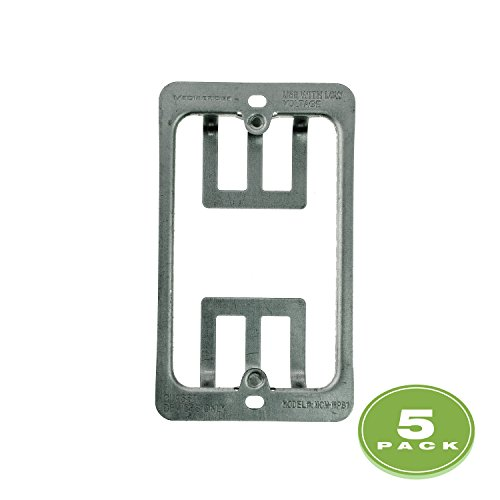 Drywall Bracket (Mediabridge Low Voltage Mounting Bracket - 1 Gang (5 Pack))