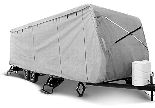 Leader Accessories Travel Trailer RV Cover Fits 27'-30' Trailer Camper 3 Layer Size 366' L102 W104 H with Adhesive Repair Patch