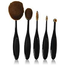 U-beauty® Profession 5pcs/set Contour Brush toothbrush Oval Blending Brush Blush Foundation Powder Eyeliner Eyeshadow Brush Make up Brush Sets