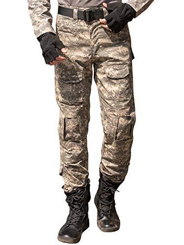 - AKARMY Men's Military Tactical Casual Camouflage Multi-Pocket BDU Cargo Pants Trousers G3WF ACU
