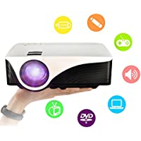 Projector LED Mini Portable Home Theater Projector Support 1080p with Laptop USB SD AV HDMI Input for Indoor Outdoor Movie