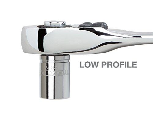 TEKTON 14901 1/4-Inch Drive x 3-3/4-Inch Stubby Low Profile Ratchet