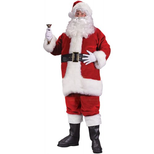 Regency Plush Red Santa Suit Adult Costume - X-Large (Santa Regency Suit)