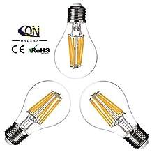 Modern LED Bulbs 3PCS ONDENN E26/E27 8 W 8 COB 800 LM 2800-3200K K Warm White A Dimmable Globe Bulbs AC 220-240/AC 110-130 V , warm white